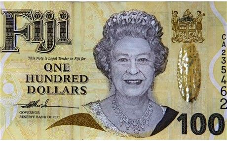 In 2012 Fiji will replace the image of Queen Elizabeth II on its currency with images of local plants & animals. Fiji, a former British colony, gained independence in 1970 but continued to feature the Queen on its coins. Other former British colonies such as Australia, New Zealand & Canada still follow the same practice.