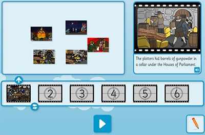TES iboard: Interactive teaching tools - NARRATIVE - Guy Fawkes (Adventure Writing) (7-9)