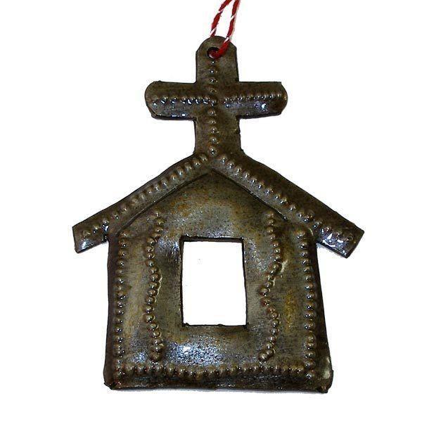 Church Design Steel Drum Ornament - Croix des Bouquets (H)