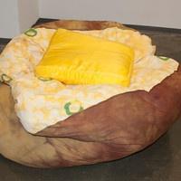 Baked Potato Bean Bag Chair/ Soft Sculpture