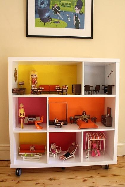 DIY Book Shelf Doll House - idea 3