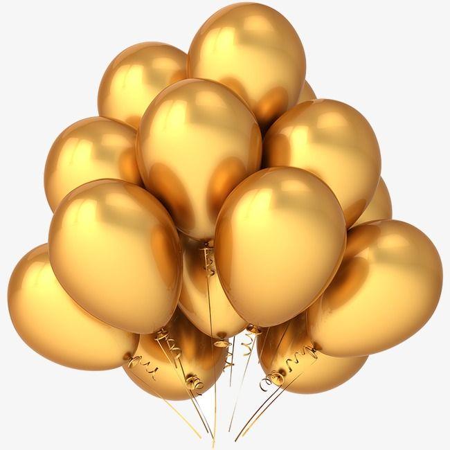 Gold Balloon Balloon Clipart Golden Balloon Pictures Png