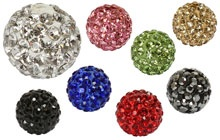 Round Shamballa Style Beads from Beads Direct...all the colours you could wish for in 8 and 10mm!