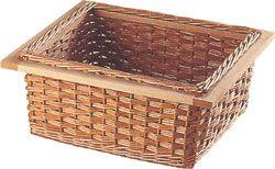 Wicker baskets, for 400-600 mm width cabinets