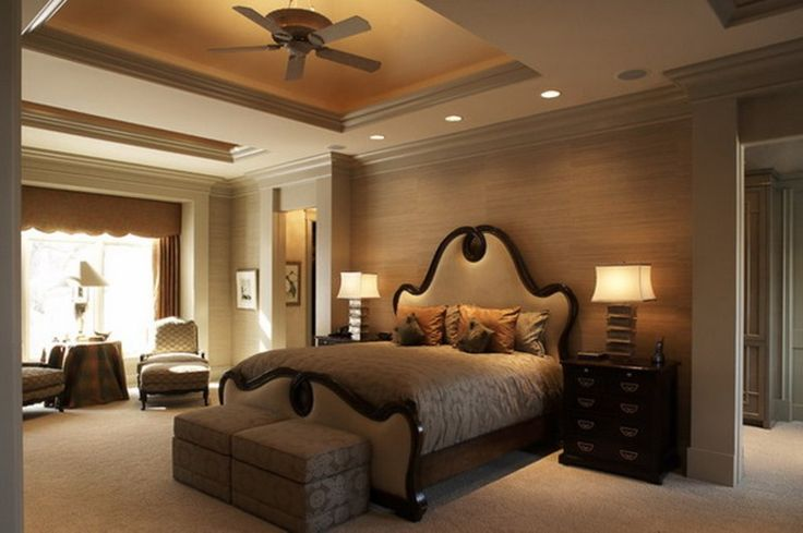 master bedroom ceilings | Bedroom, Contemporary Ceiling Fans Designs For Master Bedroom With ...
