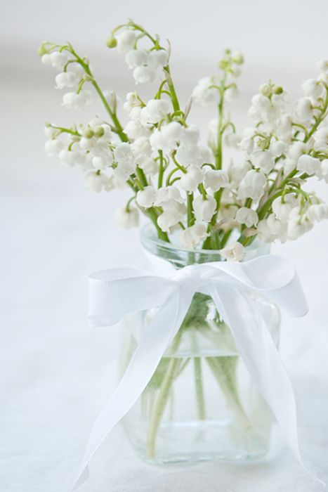 """""""May first is a National Holiday in France, officially known as La Fête du Travail (National Labour Day) and La Fête du Muguet (Lily of the Valley Day). It is a tradition on this day to offer a sprig Muguet (Lily of the Valley) to loved ones."""" May Day is Labor Day in France. Go Figure"""