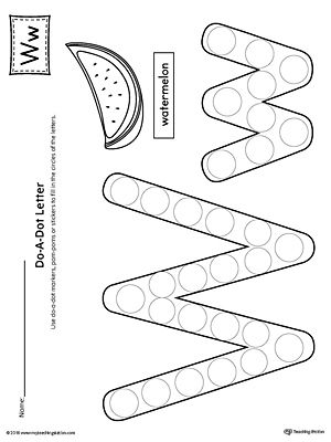 Letter W Do-A-Dot Worksheet Worksheet.The Letter W Do-A-Dot Worksheet is perfect for a hands-on activity to practice recognizing the letters of the alphabet and differentiating between uppercase and lowercase letters.