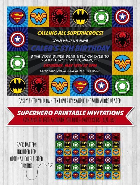 25 best ideas about Superhero invitations – Superhero Party Invitation
