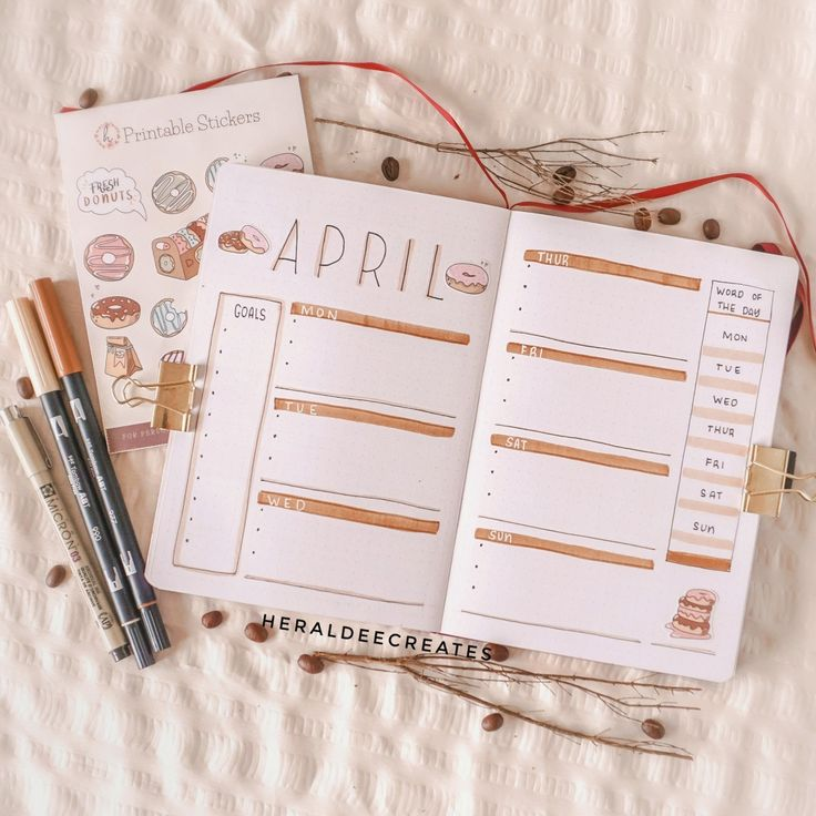 My Coffee Theme Bullet Journal Set-up