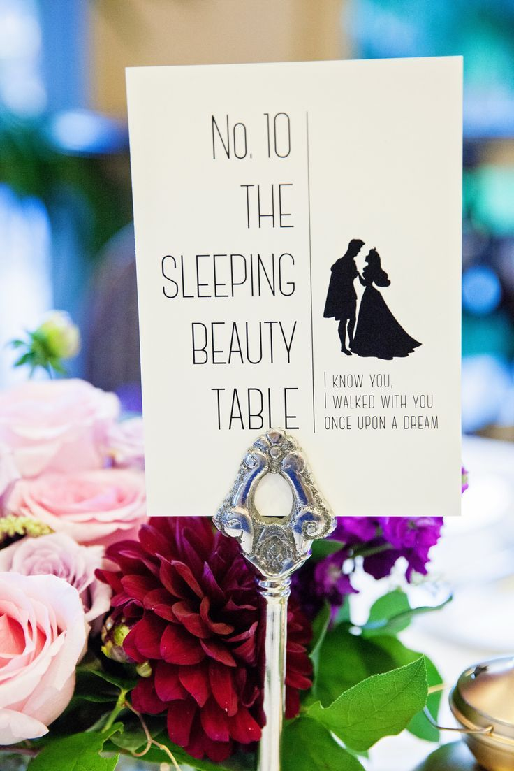 Disney Wedding: Name your tables after your favorite Disney characters, and add in some lyrics for extra magic.