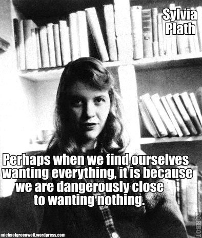 a look at parallelism in the life and works of sylvia plath 2018-03-12 sylvia plath's satirical and sharp take on the social conventions that condition people to the  it works, there is nothing wrong with it you  it's certainly a metaphor for all that is domestic in the ideal married life.