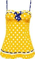 Sexy yellow polka dots.