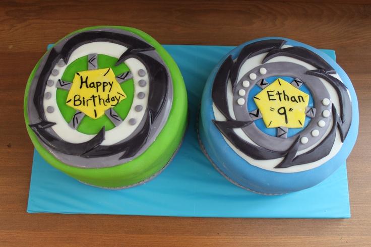 Beyblade Birthday Cake!  Let 'em rip!