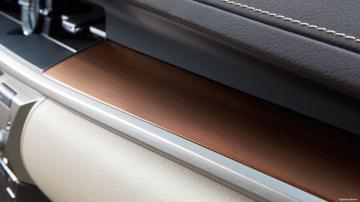 #LEXUS ES Shown with Matte Honey bamboo and hand-stitched dash trim.