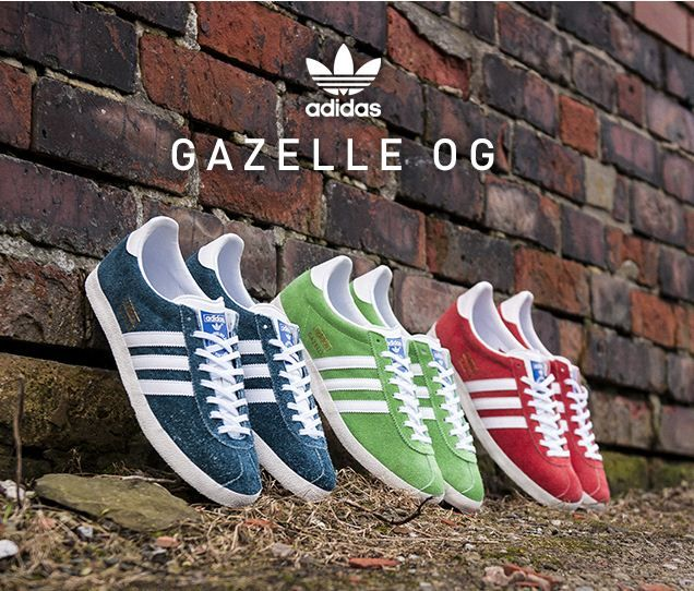 Adidas Gazelle Trainers Trace Brown White His trainers Offspring