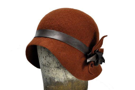 Barbara Wool Felt Cloche Hat by SOHODA on Etsy