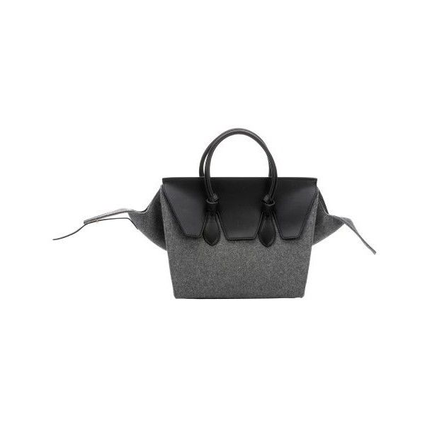 c56185c2d1 celine grey wool handbag luggage phantom