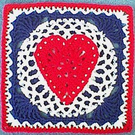 Heart of the USA Square ~ free pattern