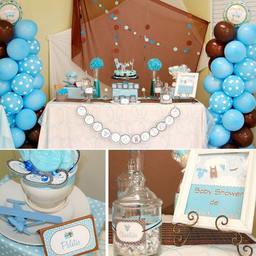 Blue And Brown Baby Shower Sorepointrecords