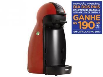 Cafeteira Expresso 15 Bar Arno Dolce Gusto Piccolo - Vermelho