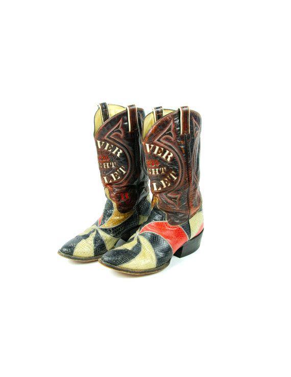 Coors Light Silver Bullet Snakeskin Cowboy Boots by DesertMoss