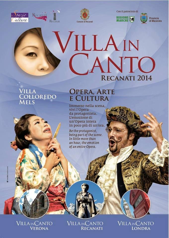 Il grande appuntamento con l'opera lirica di #VillaInCanto dal 13 luglio fino al 31 agosto nella splendida cornice del Musei Civici di Villa Colloredo Mels #Recanati