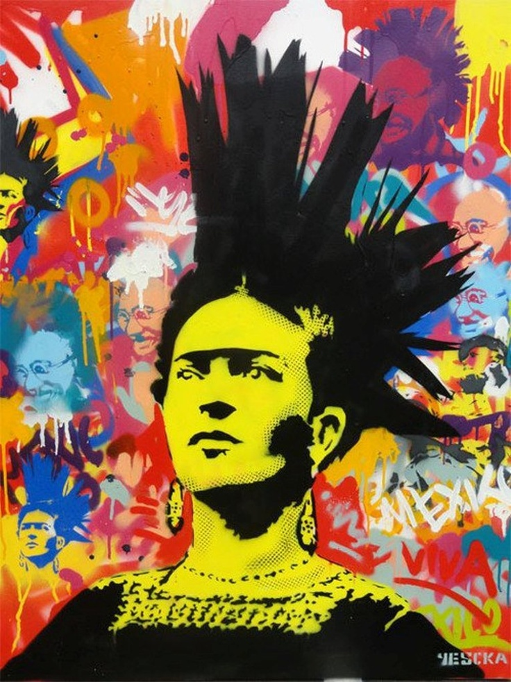 frida punk by yescka silly and beautiful things