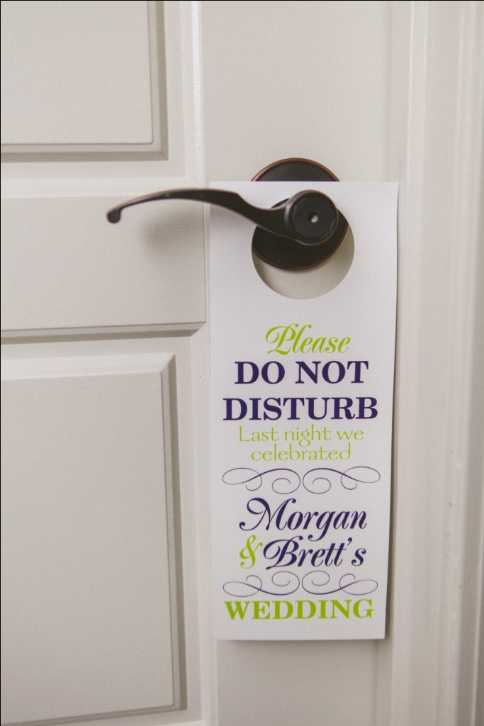 72 best images about wedding details on pinterest welcome bags beach weddings and centerpieces - Diy do not disturb door hanger ...
