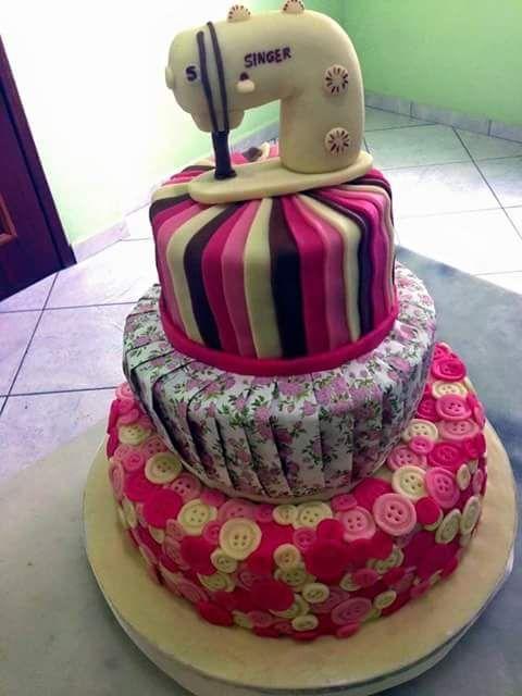 Hobby Torte Zum Thema Nahen Torten Cake Sewing Cake Sewing