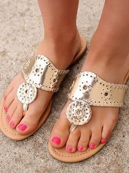 Jack Rogers Inspired Sandals - Gold from Chocolate Shoe Boutique