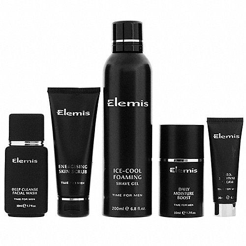 Elemis Total Men's Grooming Kit 5 piece by Elemis. $85.00. Makes face smooth and sexy. Invigorating to mind and body. Prevents razor bumps and irritation. Formulated specifically for men. Refreshing sensations