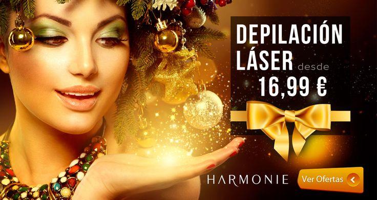 Ya tenemos aquí la mejor #oferta de #Navidad !! :)    Contamos con todos los láseres médicos:  ● SOPRANO ● ALEJANDRITA ● DIODO ● ND YAG ● ELLIPSE  http://www.harmonie.es/landing/depilacion-laser.htm