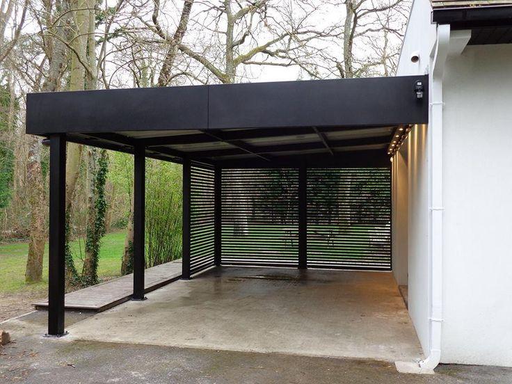 Carport double adosse maison design for Abri auto double costco