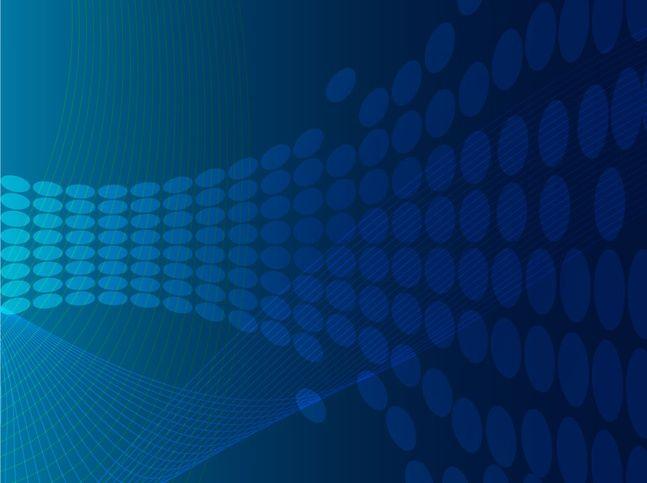 Cuadrados azules curvas sobre fondo abstracto Vector Gratis