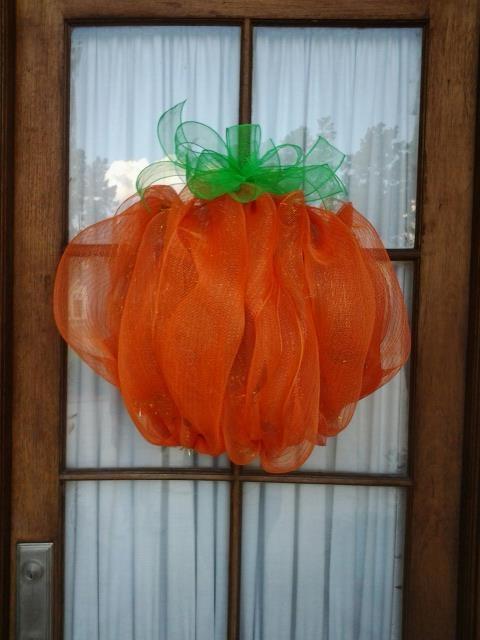 Pumpkin mesh wreath