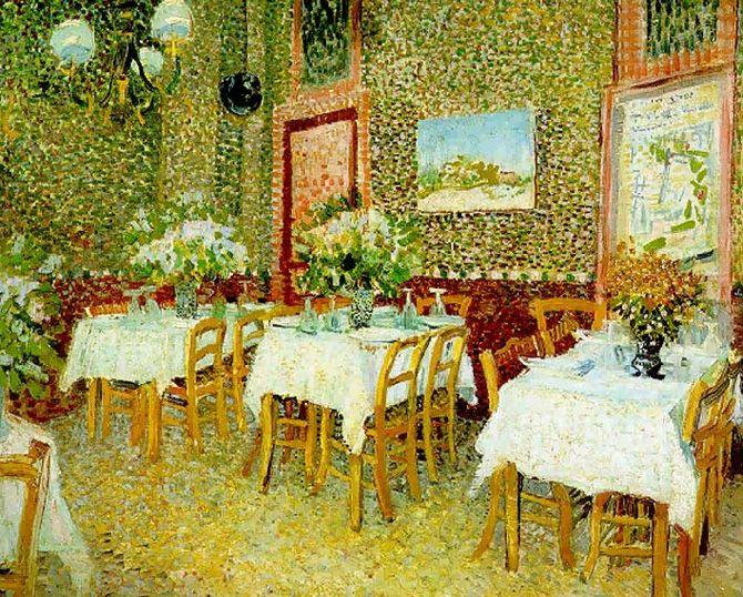 Vincent van Gogh Interior of a Restaurant