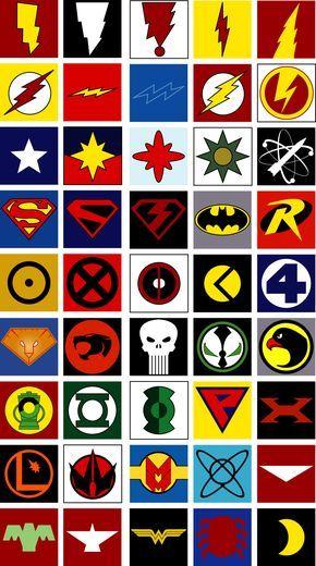 All Superhero Symbols Usuario Registrado Ms Bijus Pinterest