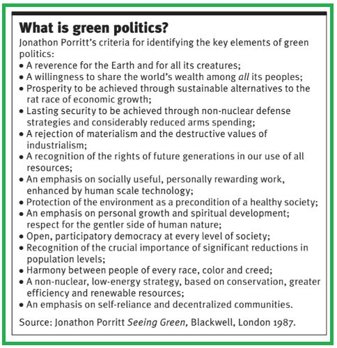 Useful checklist of basic principles of #Green politics. More at  https://docs.google.com/viewer?url=http://www.newint.org/books/no-nonsense-guides/green_politics_chapter_one.pdf… #GreenSurge #VoteGreen2015