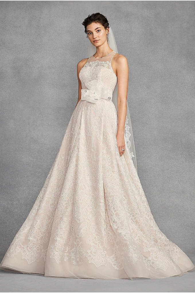 c325c4fd370 White by Vera Wang Macrame Lace Wedding Dress - This White by Vera Wang A-line  gown features
