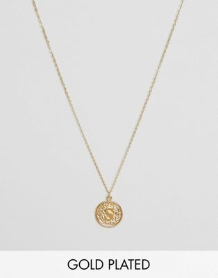 Ottoman Hands S Initial Pendant Necklace