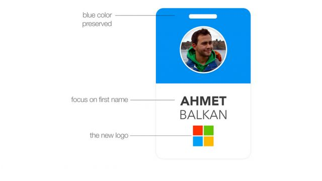 Someone Redesigned Microsoft's Employee Badges To Make Workers Look More Like Humans   Gizmodo Australia
