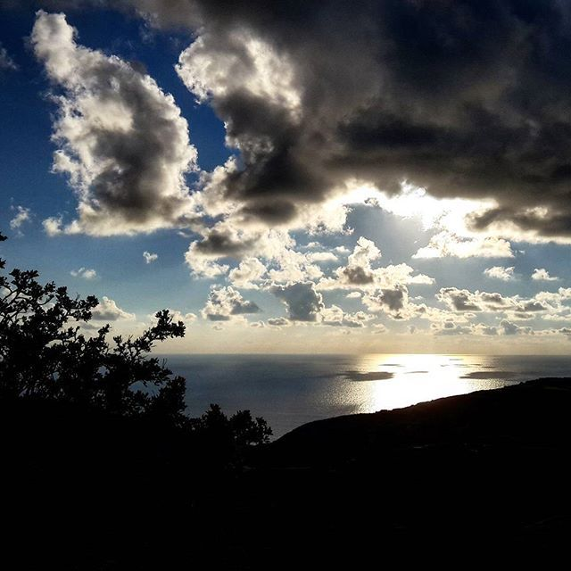 The clouds are tangle with the light in the sky... Beautiful! #Folegandros #Cyclades Photo credits: @ga_ma01