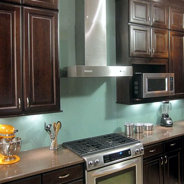 glass panel backsplash making the house a home pinterest
