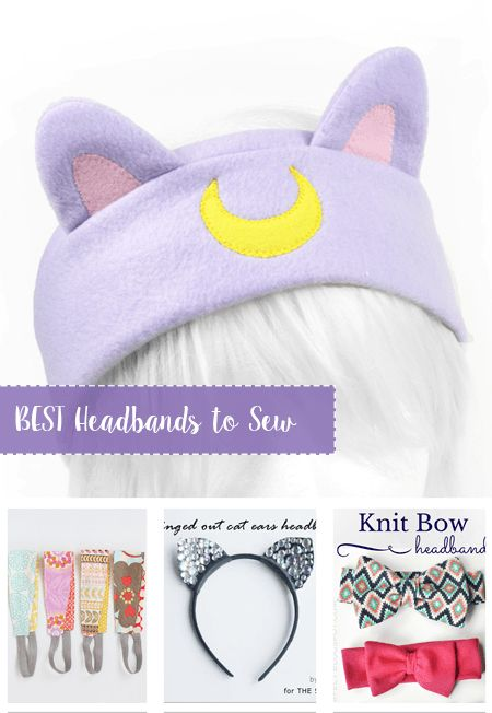 Best Headbands to Sew. Compilation of the best headbands to sew, free tutorials and free patterns that will show you how to sew headbands