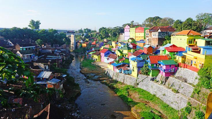 Kampung Jodipan Nuansa Pelangi di Malang Jawa Timur - Jawa Timur
