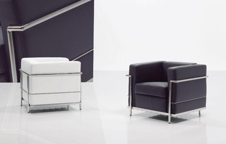 Armchair.  Black / White