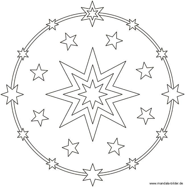 Ausmalbild Mandala Stern Ausmalbild Stern Sterne Zum Ausdrucken Ausmalbilder Mandala