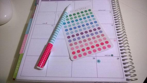 96 Color coding dot/ Planner stickers/ Erin Condren/ Simplified Planner/ Plum Paper Planner/ Filofax