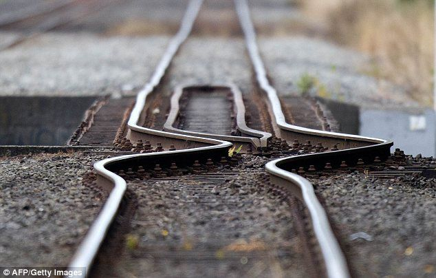 Sheer force: A buckled rail line after the 6.3 magnitude earthquake ripped through Christchurch, New Zealand. via dailymail.co.uk #Earthquake #Christchurch #New_Zealand