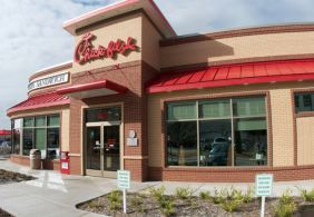 Chick-fil-A : each store is individually owned and many offer community events and in-store fundraising. Contact your local Chick-fil-a to ask about fundraising offerings for your organization. Many offer a % of dine-in sales for a scheduled date. Your group may be required to host a craft and offer refills in the dining room as part of the participation. http://www.chick-fil-a.com/Kids/Local